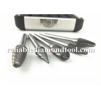 Wholesale 5 PCS Tungsten Carbide Burrs Set CNC Fully Ground Type E Oval K30 With Aluminum Box from china suppliers