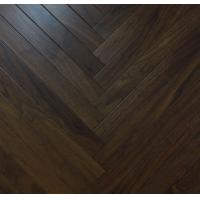 Wholesale Black Walnut wood parquet floor, herribong walnut engineered flooring, fishbone walnut wooden floor from china suppliers
