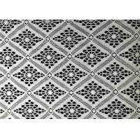 Wholesale White Damond Shaped Enchanting Polyester Lace Fabric Roll / Floral Lace Fabric from china suppliers