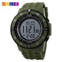 Wholesale Outdoor Sports Mens Digital Watches 50m Waterproof  PU Leather Strap from china suppliers