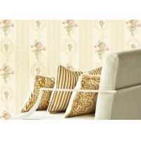 Wholesale Concise European Flower Strippable Living Room Wallpaper With Vertical Striped from china suppliers