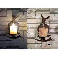 Wholesale Maso Single Lamp Holder American Domestic Market Popular Retro Vintage Wall Sconce E14 Base Lamp MS-W2001 Wooden Color from china suppliers