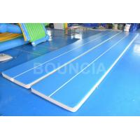 Wholesale 15m Blue Gymnastics Air Track , Air Mattress Gymnastics With Durable Handles from china suppliers