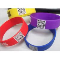 Wholesale printed readable QR code customized logo silicone rubber wristbands CE certificates from china suppliers
