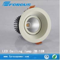 Wholesale All aluminum white paint LED 10W 18W downlight lamp super bright glare from china suppliers