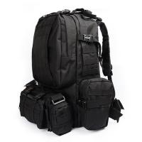 Wholesale Black Army Backpack / Tactical Hiking Backpacks With 3 Molle Bags from china suppliers