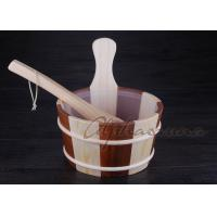 "Wholesale Liner 7"" high Wooden Water Bucket hold one gallon with plastic liner from china suppliers"