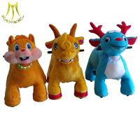 Wholesale Hansel plush coin operated happy ride on animla walking toy animals from china suppliers