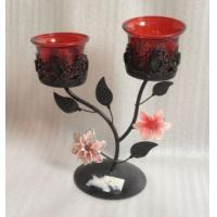 Wholesale Antique Double Metal Flower Decorative Candle Holders With Tealight Cup from china suppliers