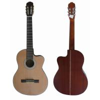 Wholesale Vintage 39inch 4/4 Cutaway  Spruce Top Sapele Back Wood Classical Guitar Natural Color from china suppliers