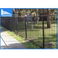 Wholesale Powder Coated Galvanized Fence Panels , Garrison Security Spear Top Fence Panels With Dupont from china suppliers
