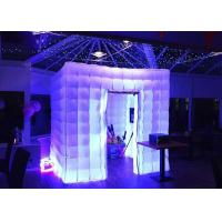 Wholesale Romantic Inflatable Photo Booth LED Light 2.4m Color Changed With Blower from china suppliers