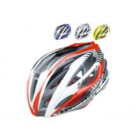 Wholesale Bicycle Helmet Red Carbon Fiber Parts Strong With 30 Vent Holes , Adjustable Strap from china suppliers