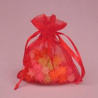 Wholesale Beautiful Red Organza Gift Bags With Drawstring For Jewelry from china suppliers