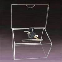 Wholesale transparent acrylic donation money box from china suppliers