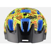 Quality Yellow Graffiti Professional MTB Enduro Helmets , Blue EPS Color Available and CE Certified for sale
