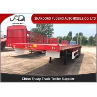 Wholesale 3 Axles 40 Foot Flatbed Trailer / Air Bag Suspension 20 Foot Flatbed Trailer from china suppliers