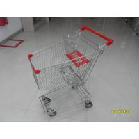 Buy cheap 80L Supermarket Shopping Trolley American Design Shopping Carts With Red Plastic Parts from wholesalers