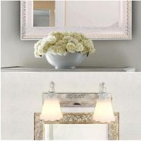 Wholesale E14 bulb 30cm white two glass light mirror lamp (0300) from china suppliers