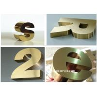 Wholesale Titanize / Brass Color Stainless Steel Signs Eco Friendly With 12 Years Experience from china suppliers