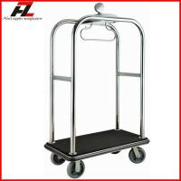 Quality Luxury Hotel Lugagge Bellman Cart in Rose Gold /Stainless Steel Luggage Cart for sale