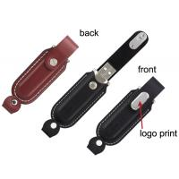 Buy cheap Custom 1GB, 2GB, 4GB, 16GB Metal and Leather Usb Sticks Flash Drive with Dual LED from wholesalers