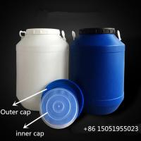 Wholesale HDPE round shape open top 25kg Plastic detergent container for detergenting from china suppliers