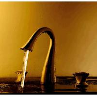 Wholesale Golden Brass Double Handles Basin Faucet from china suppliers