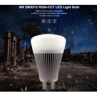 Buy cheap Milight Wifi 8W DMX512 RGB+CCT LED Light Bulb 2.4G RF All color RGB with dual white 3000k to 6000K led bulb with APP from wholesalers