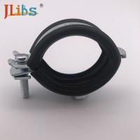 Wholesale M8 / M8+10 Nut Steel Galvanized Pipe Clamps With EPDM Rubber from china suppliers