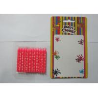 Quality Circle Print Birthday Candles Pink Pillar Birthday Cake Candles With No Dripping for sale