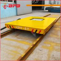 Buy cheap Heat Resist Short distance industry Electric Transfer  Rail Flat Cart for sale from wholesalers