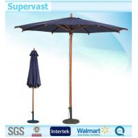 Wholesale Straight Wooden Umbrella / Patio Market Umbrella , Solar Charge USB Outdoor Umbrella from china suppliers