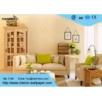 Wholesale Flocking Modern Removable Wallpaper for Living Room with Warm Beige Floral from china suppliers