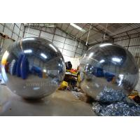 Wholesale 2m Silver Inflatable Advertising Balloons , Inflatable Mirror Balloons Decoration from china suppliers