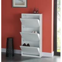 Wholesale Modern White Shoes Holder Cabinet , Metal Structure Shoe Rack Storage Cabinet from china suppliers