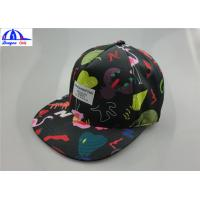 Wholesale Polyester Custom Printed Unisex 5 Panel Camp Cap With Woven Label on the Front from china suppliers