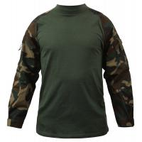 Wholesale Digital Woodland Tactical Combat Shirt Breathable Polyester Fabric from china suppliers