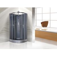 Wholesale Quadrant Shower Cubicles 900 X 900 X 2250 MM Circle Grey ABS Tray Chrome Profiles from china suppliers