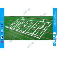 Wholesale Customized Light Duty Wire Mesh Slatwall Display Shelves with Lip for Retail Shops from china suppliers
