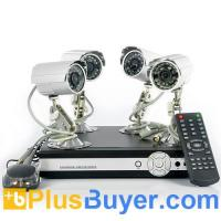 Wholesale SecureView - Complete Outdoor Surveillance Kit (4 Cameras, 4 Channel DVR, Network Function) from china suppliers