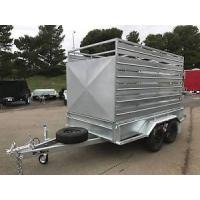 Wholesale Heavy Duty Cattle Crate Trailer With Stock Crates , Tandem 12 x 6 Box Trailer from china suppliers