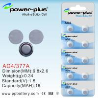 Wholesale AG4/1.5V /377A/18mAh button cell battery AG Series  use Clock  from china suppliers