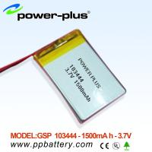 Wholesale High capacity li-polymer batteries103444 1500mAh 3.7v from china suppliers