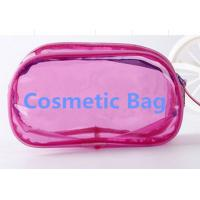 Wholesale Printed PVC Transparent Cosmetic Makeup Bags Zipper Open way from china suppliers