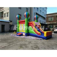 Wholesale 0.55mm PVC Tarpaulin Inflatable Jumping Balloon Castle With Slide For Kids from china suppliers
