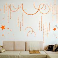 Wholesale Computer Designed Art Removable Decoration Wall Flower Stickers G094 from china suppliers