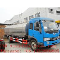 Wholesale FAW 4*2 13,000L stainless steel milk tank for sale from china suppliers