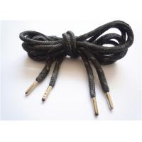 Wholesale Elastic Black Flat Shoe Laces / Basketball Shoe Laces Durable from china suppliers