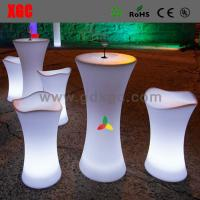 Wholesale PE material light up bar stool for nightclub use GF105  light furniture plastic Led furniture High bar Chair from china suppliers
